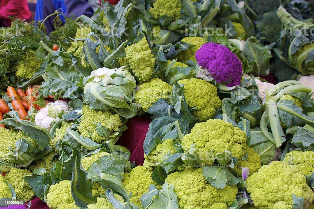 colorful cauliflower royalty-free stock photo