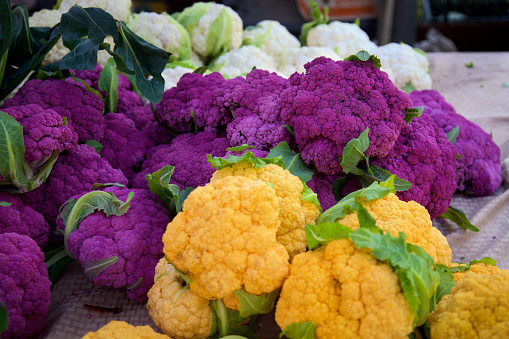 Colorful Cauliflower Stock Photo - Download Image Now