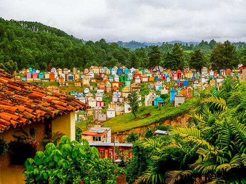 istock Colorful cemetery of Chichicastenango in Guatemala 1089736880