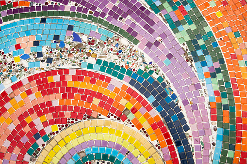 Ceramic is translated into a colorful background