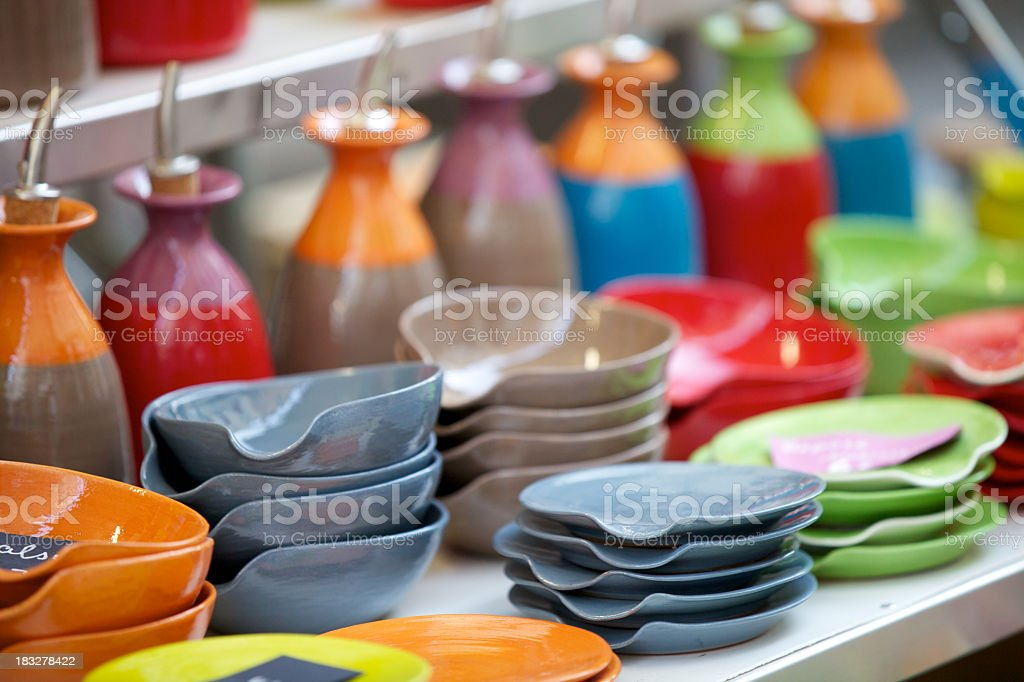 Colorful Ceramics royalty-free stock photo