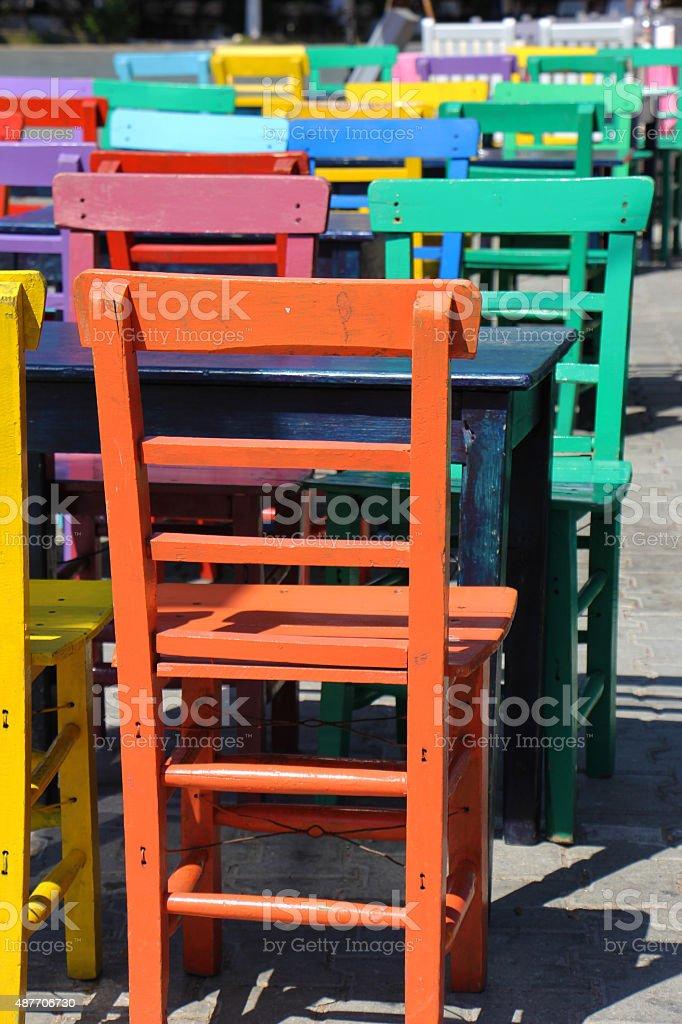 Красочные стулья Стоковые фото Стоковая фотография