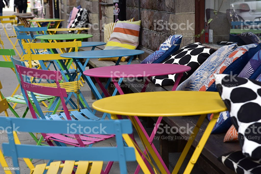 Colorful chairs stock photo