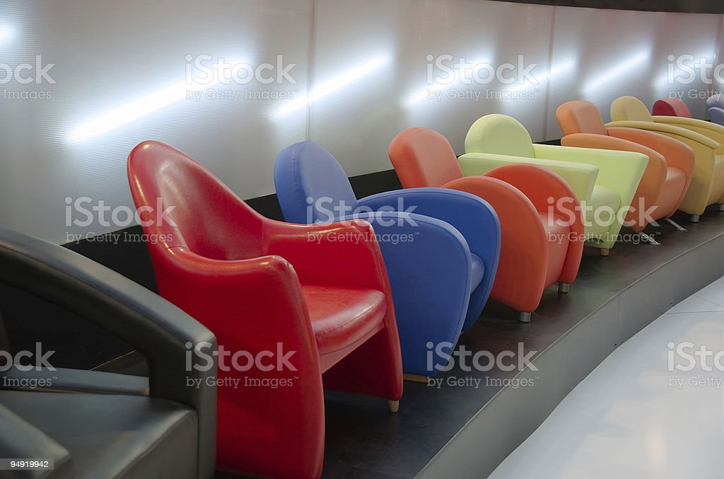 Colorful chairs royalty-free stock photo
