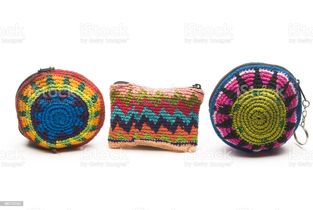 colorful change purse coin holder made in central america royalty-free stock photo