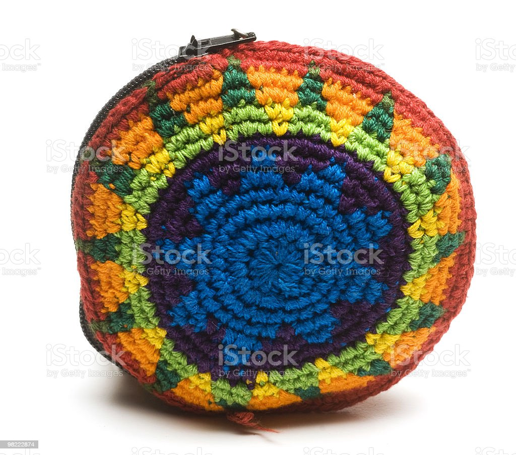 colorful change purse made in guatemala central america royalty-free stock photo