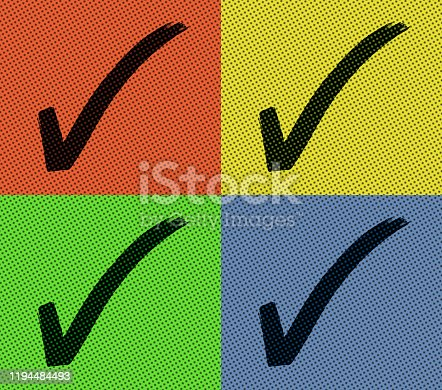 istock Colorful Check Mark On Small Note Paper 1194484493