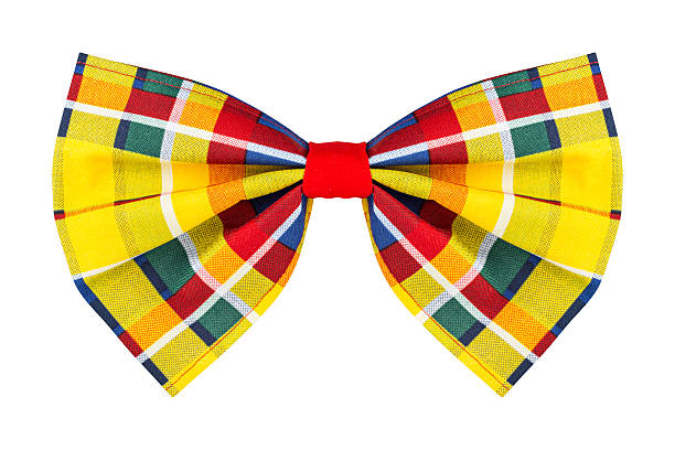 colorful checkered bow tie colorful checkered bow tie isolated on white background bow tie stock pictures, royalty-free photos & images