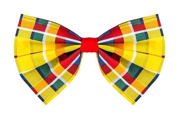 colorful checkered bow tie - knotenkleid stock-fotos und bilder
