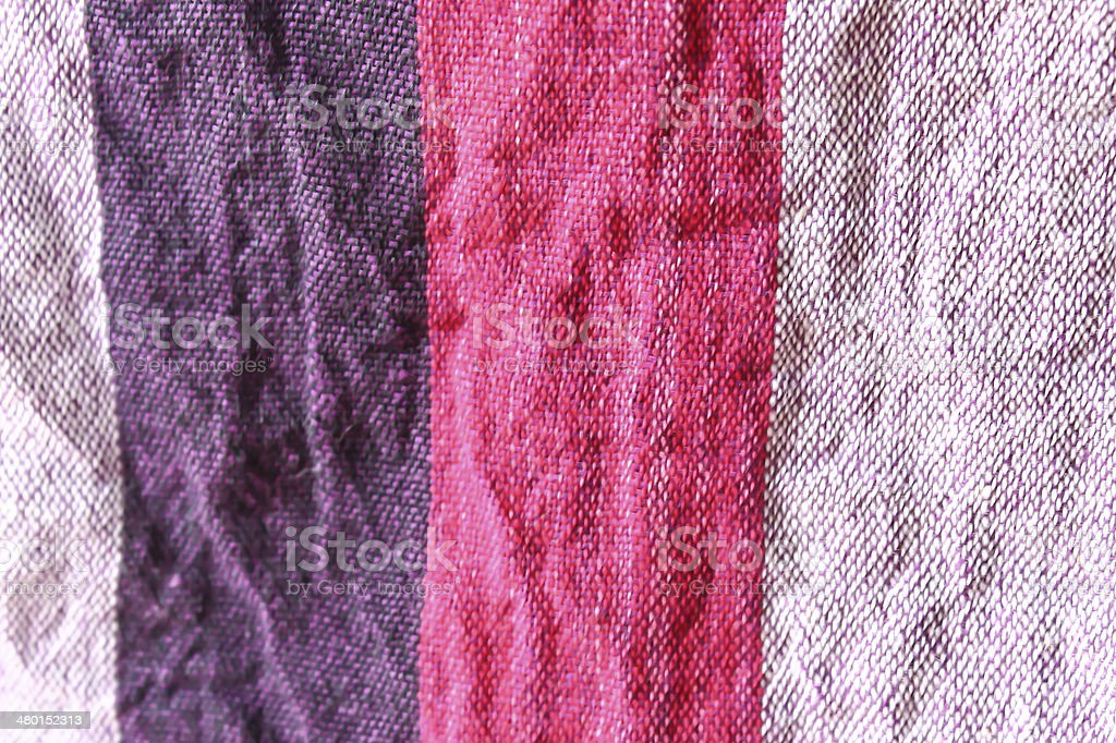 Colorful checkered loincloth fabric background stock photo