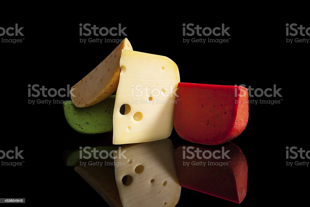 Colorful Cheese Variation. stock photo