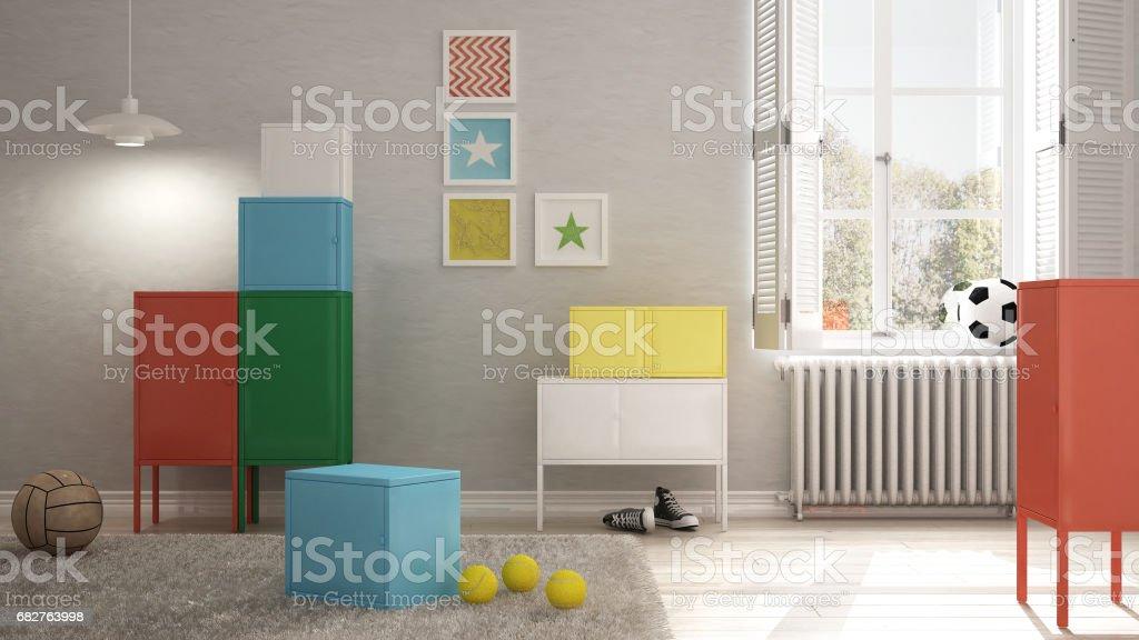 Colorful Children Bedroom Minimalist Interior Design ...