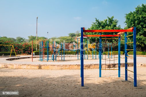 656743520istockphoto Colorful children playground park in Udaipur, India 979603692