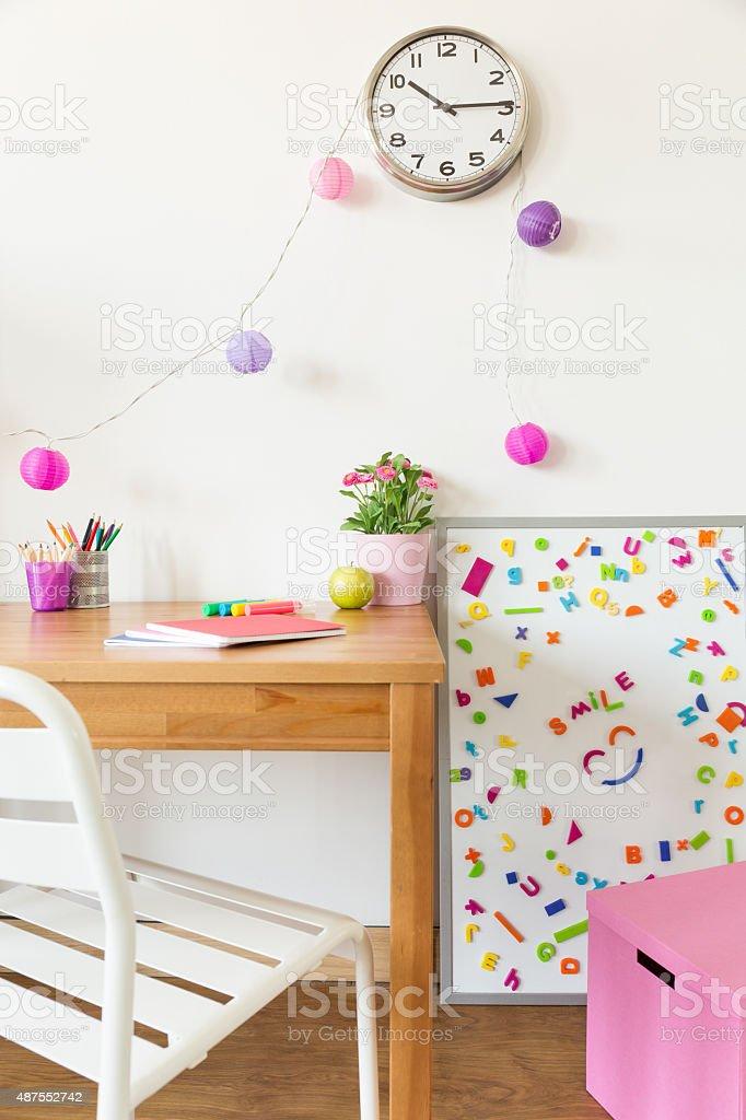 Colorful children room stock photo