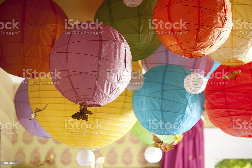 Colorful Chinese Lanterns royalty-free stock photo