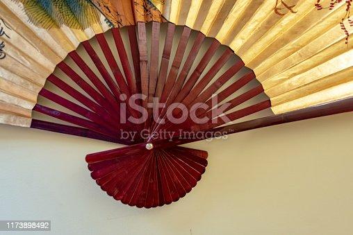 532522827 istock photo Colorful Chinese Silk Bamboo Fan 1173898492