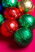 Colorful chocolate balls