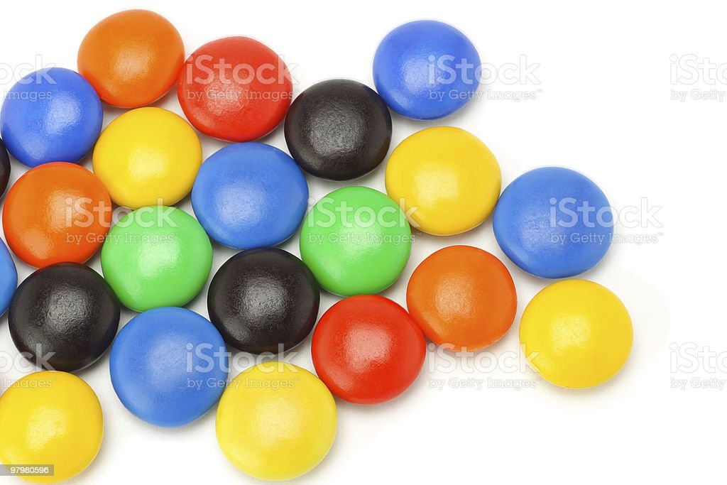 Colorful chocolate button candies royalty-free stock photo