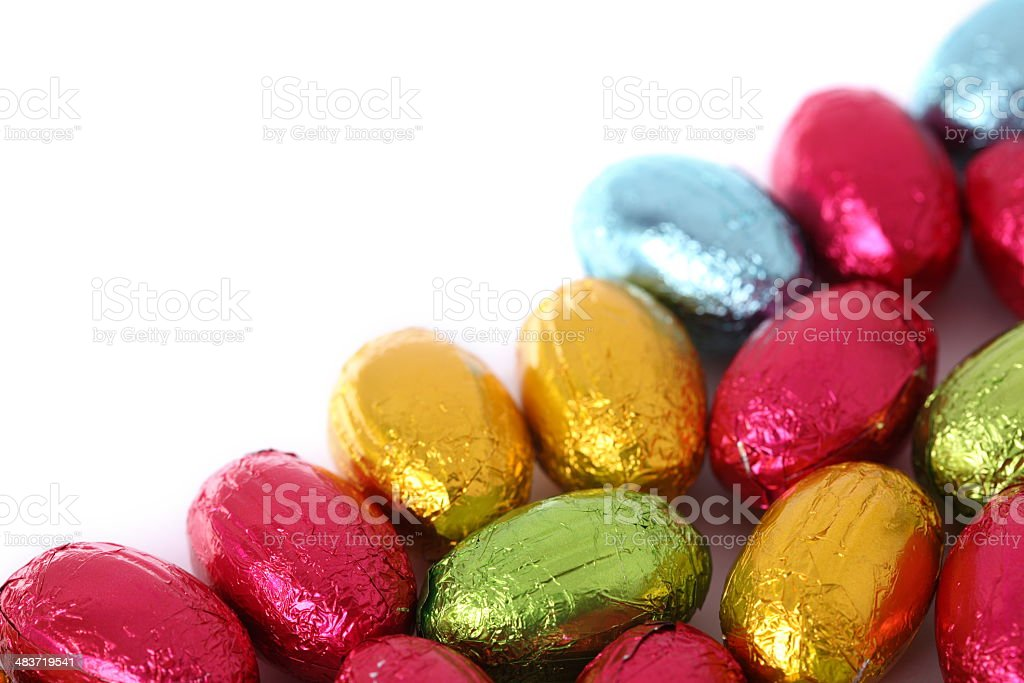 Colorful Chocolate Egg Frame royalty-free stock photo