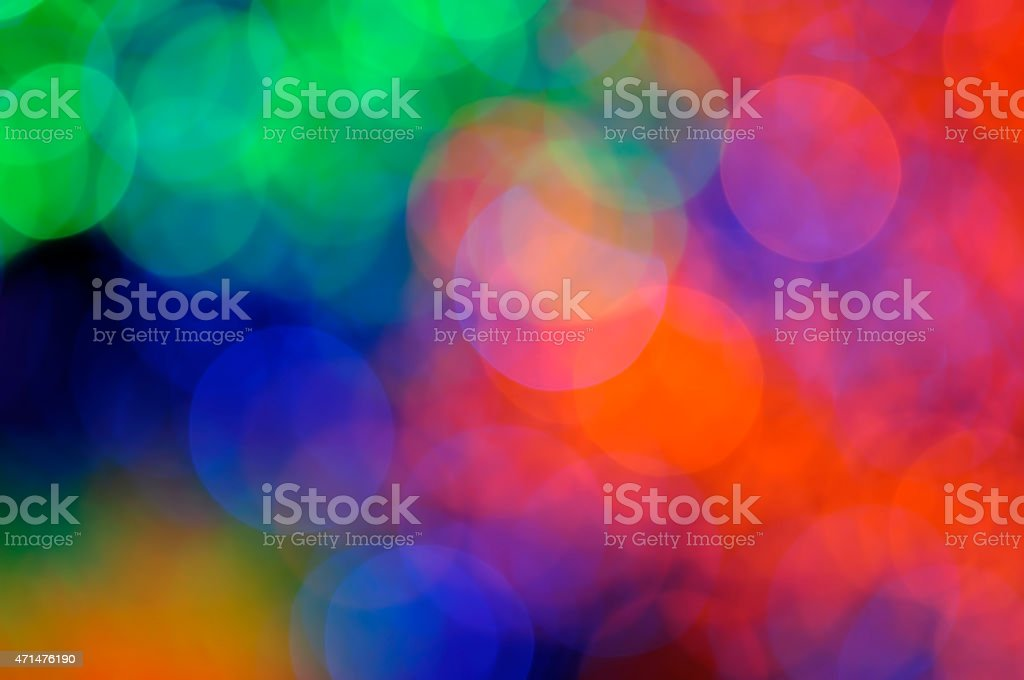 Colorful Christmas Abstract Background With Defocused Bokeh Lights stock photo