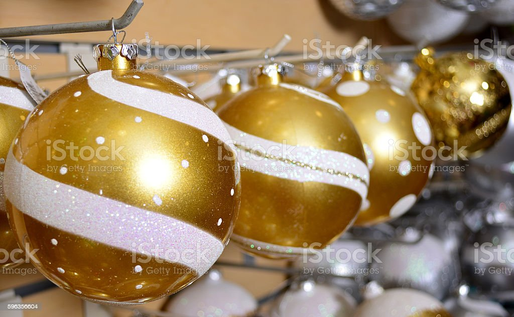 Colorful christmas balls royalty-free stock photo