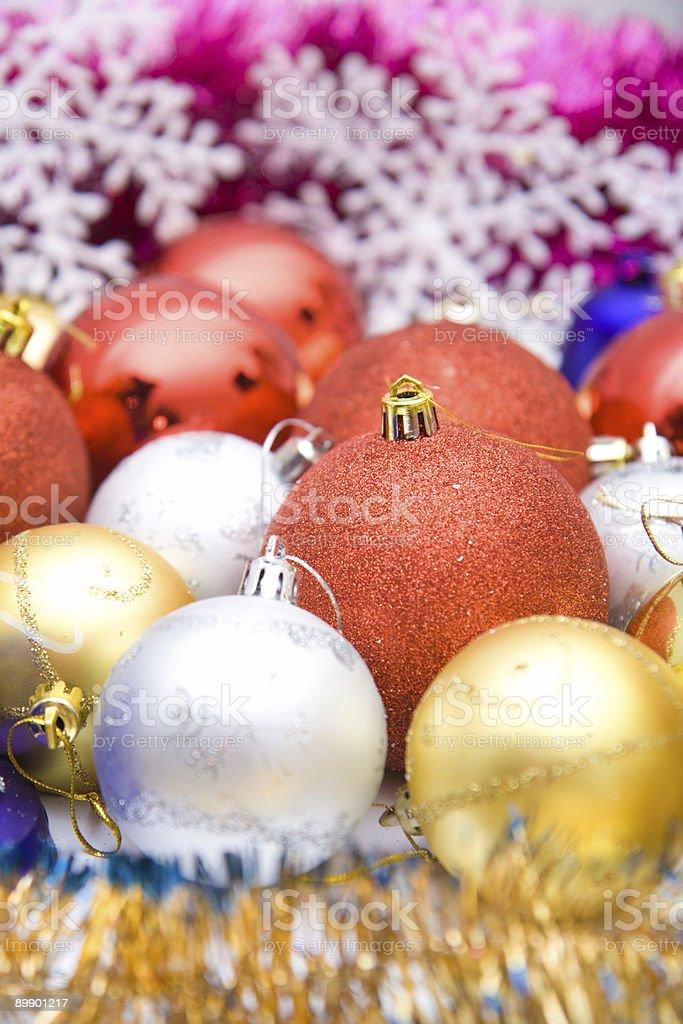 Красочные Рождественские украшения набор Стоковые фото Стоковая фотография
