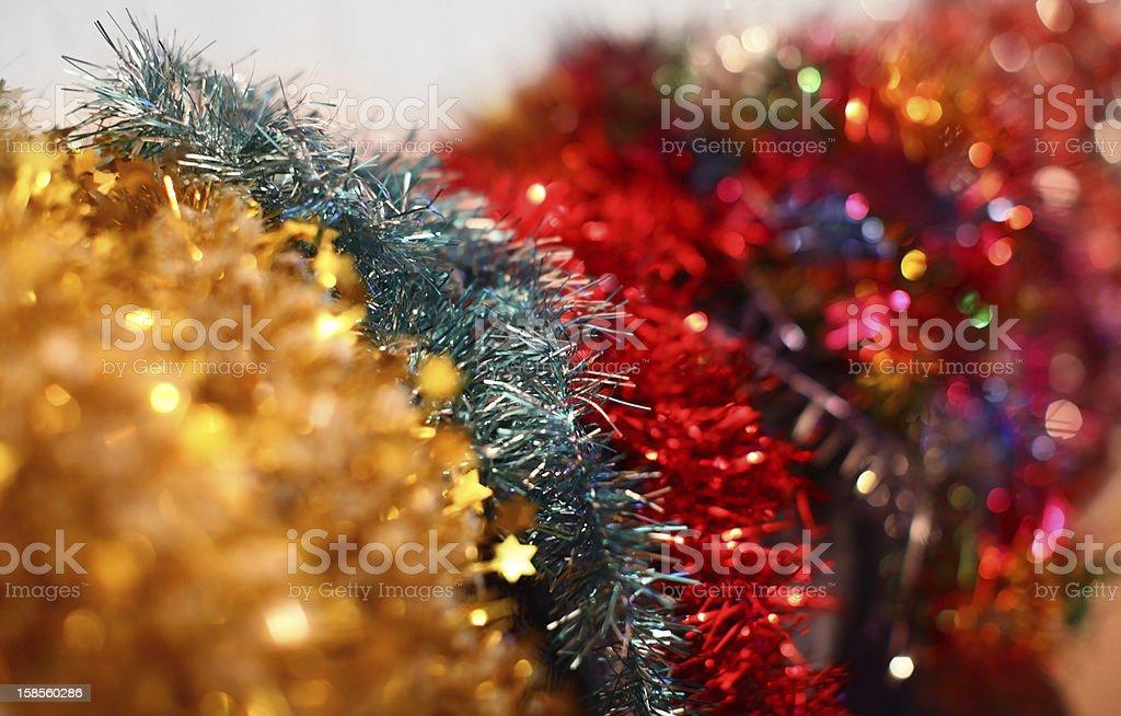 색상화 크리스마스 garlands (여러 색상) royalty-free 스톡 사진