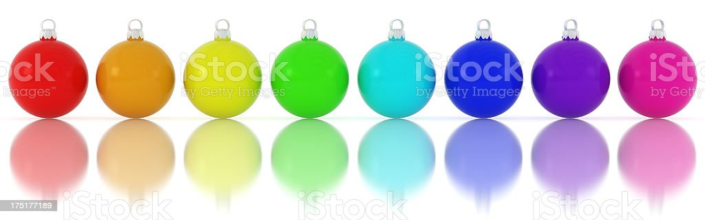 colorful christmas ornament royalty-free stock photo