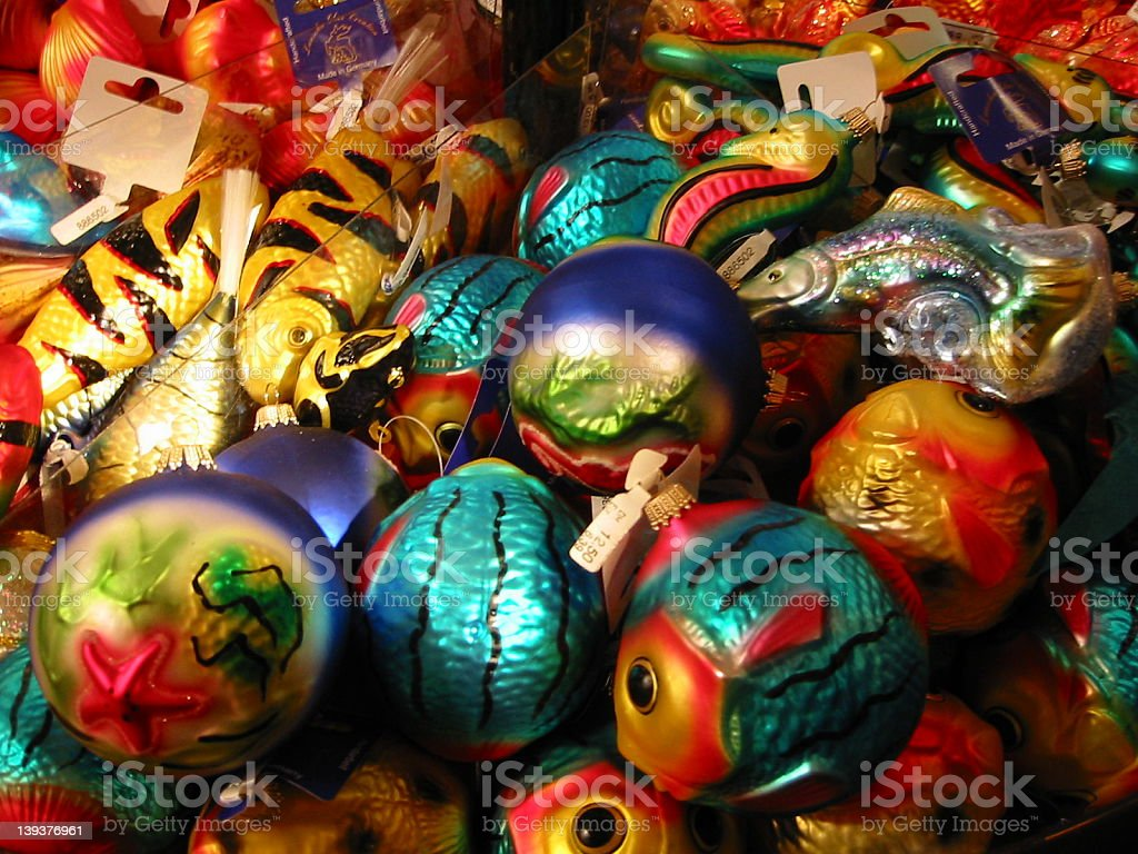 Colorful Christmas Ornaments royalty-free stock photo