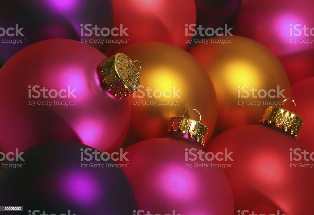 colorful christmas ornaments stock photo