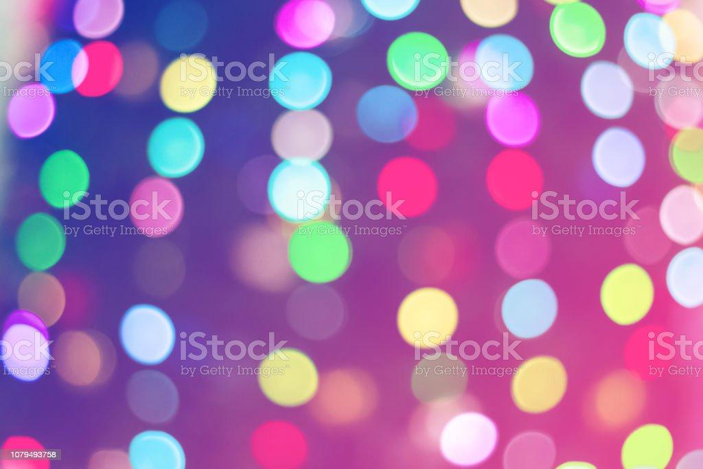 Colorful Christmas tree bokeh background stock photo