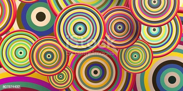 istock Colorful circle shapes 807574432