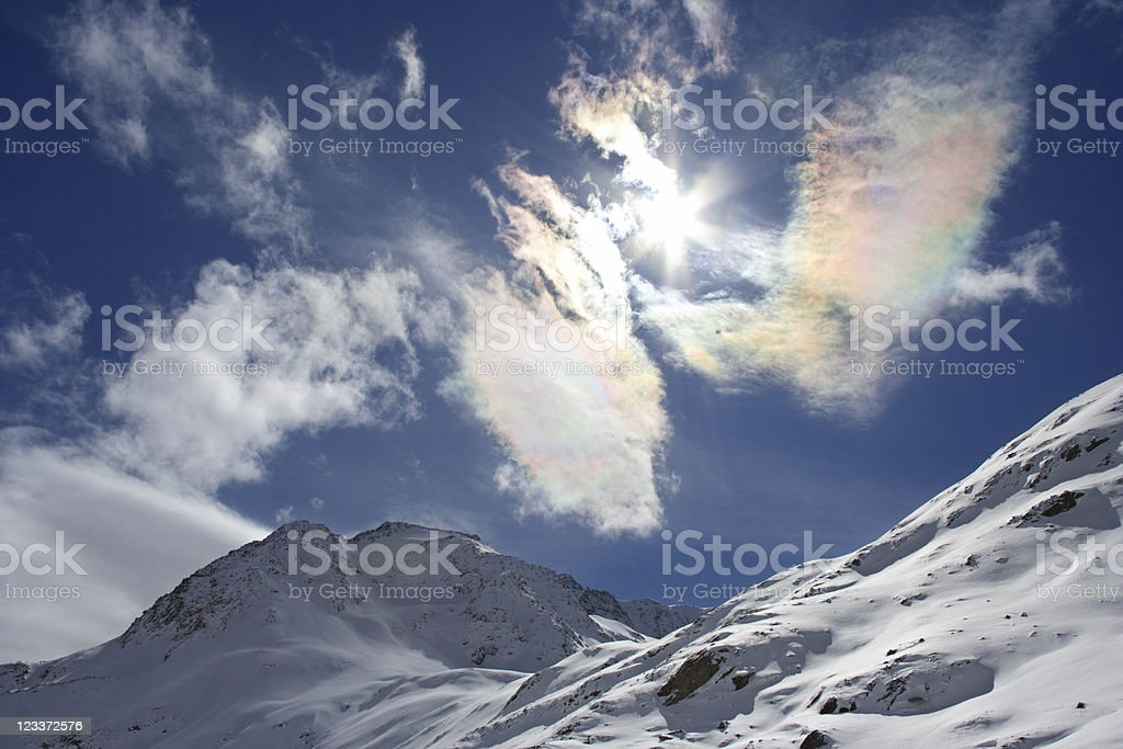 Colorful Cirrus Clouds royalty-free stock photo