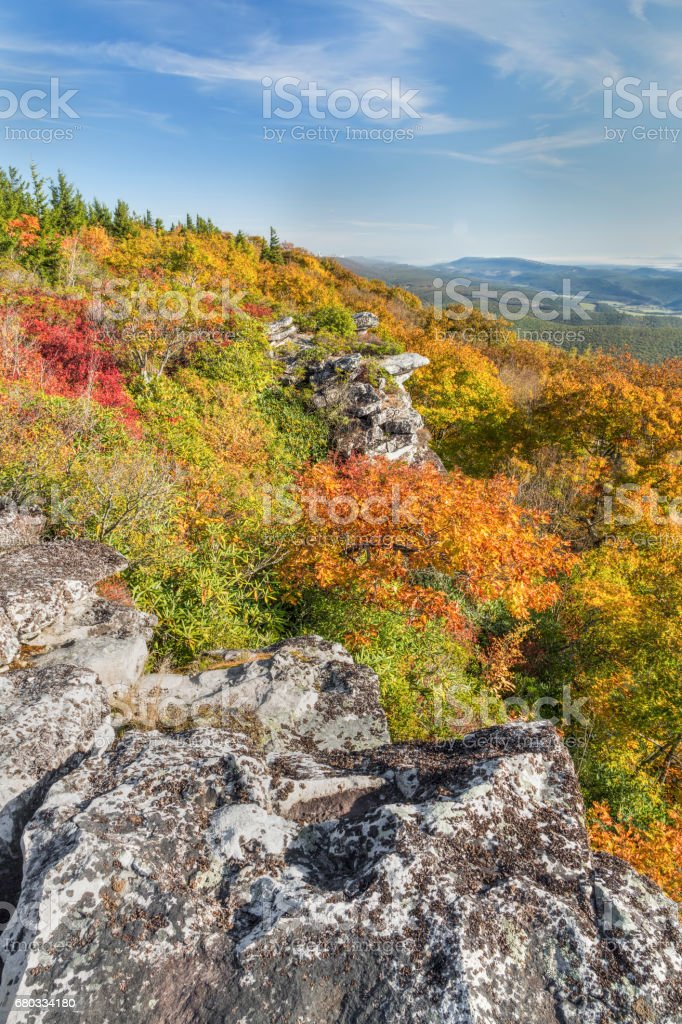 Colorful Cliff Edge stock photo