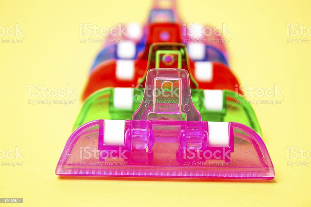 Colorful Clips royalty-free stock photo