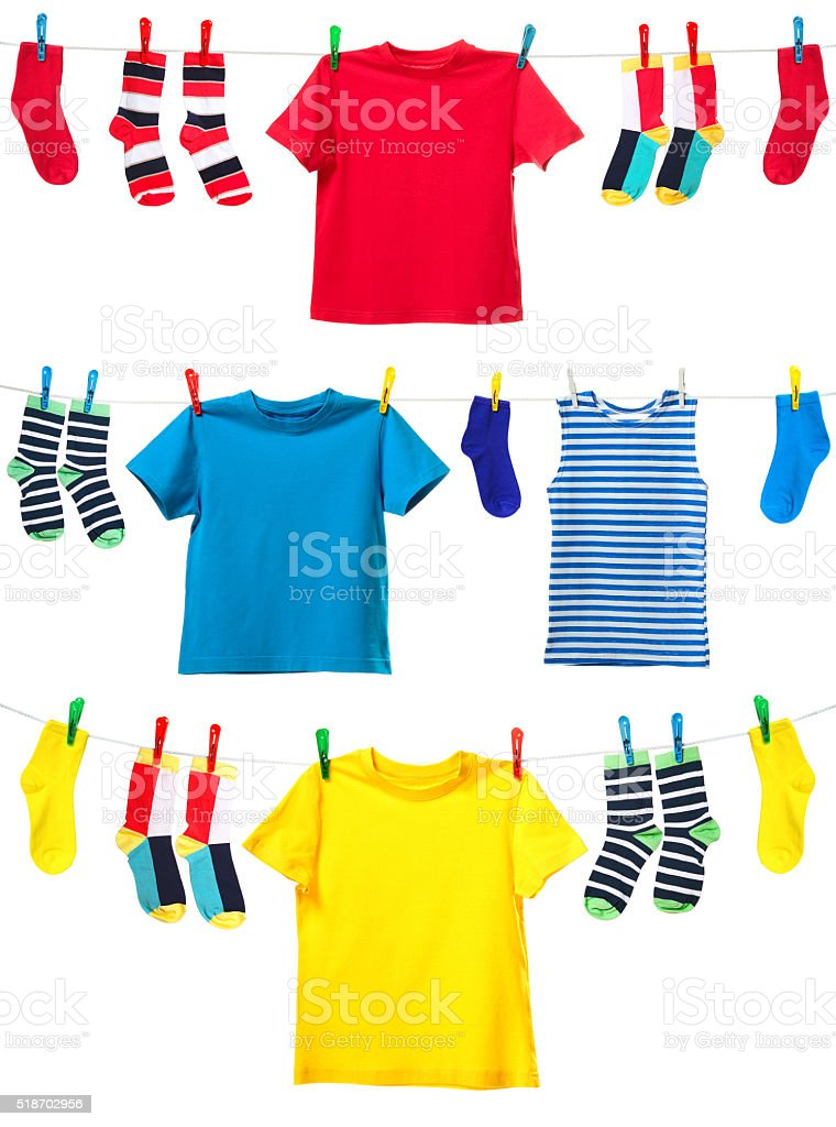 Colorful clothes stock photo