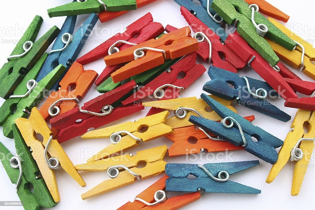 Colorful clothespins 2 royalty-free stock photo