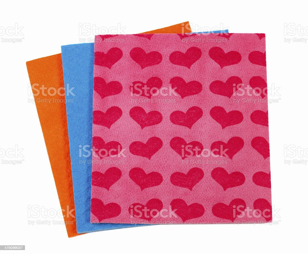 Colorful cloths microfiber isolated on a white background royalty-free stock photo
