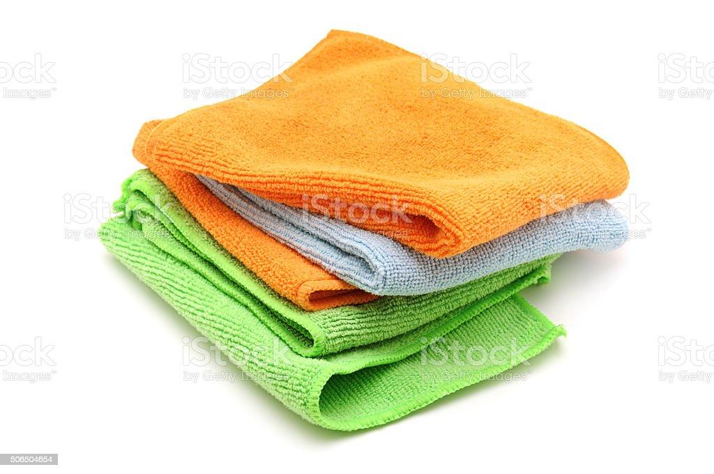 Colorful cloths microfiber stock photo