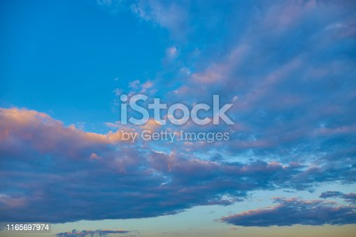 Colorful cloud on dramatic sky background