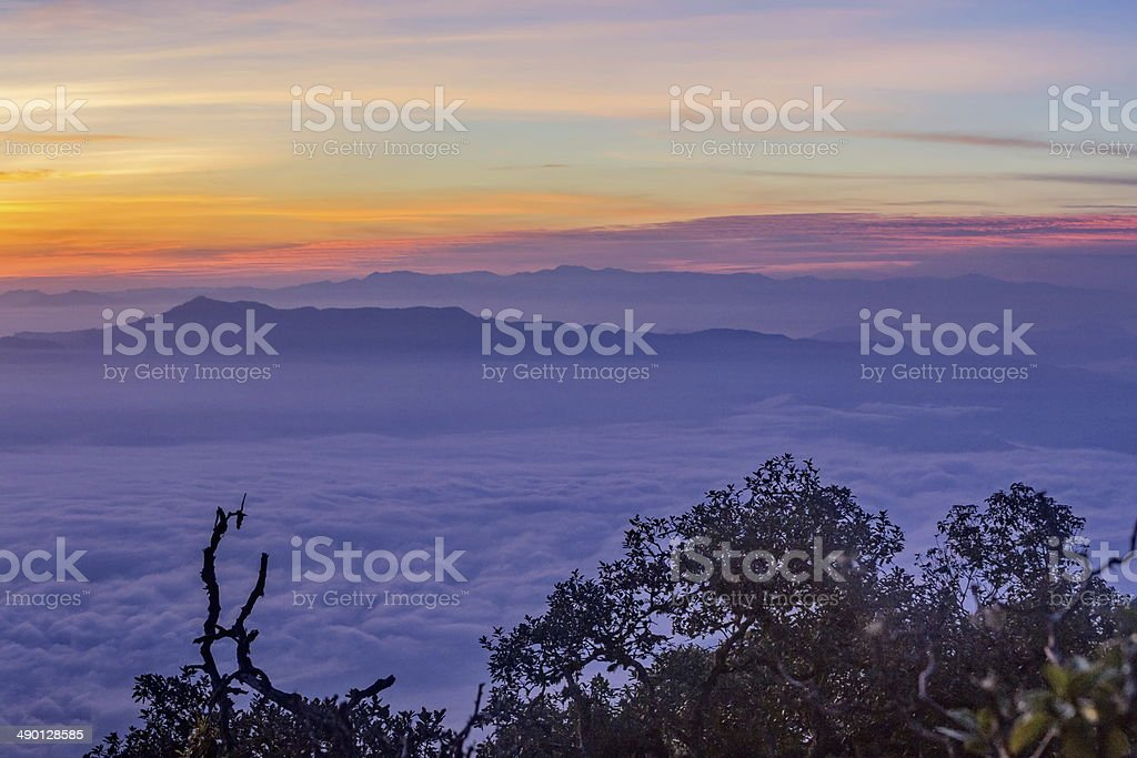 colorful Clouds at Dawn royalty-free stock photo
