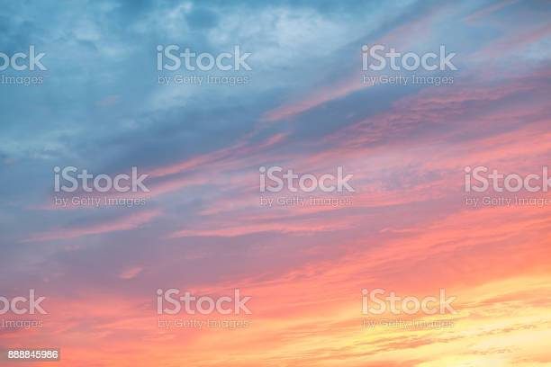 Photo of Colorful clouds on dramatic sunset sky