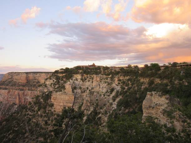 Colorful clouds over the Grand Canyon stock photo