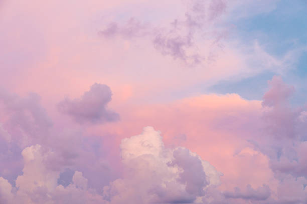 colorful clouds - pastel colored stock pictures, royalty-free photos & images