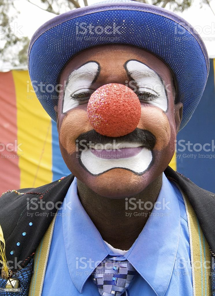 Colorful Clown Portrait royalty-free stock photo
