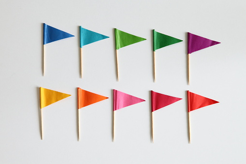 Colorful Cocktail flags