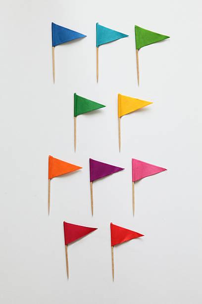 colorful cocktail flags - partylabels stock-fotos und bilder