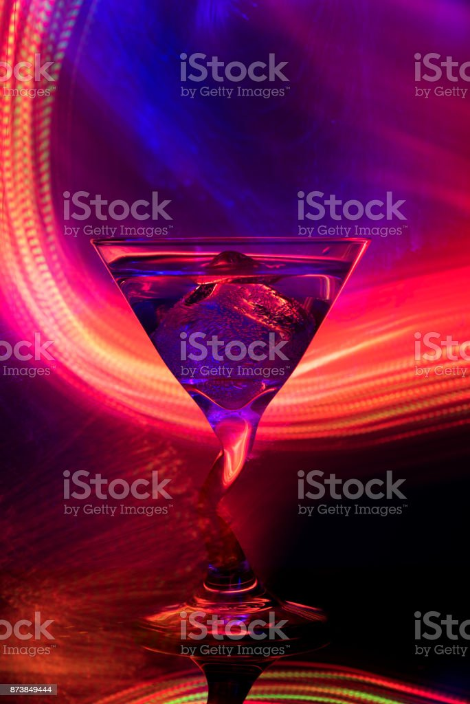 colorful cocktail in glass club party stock photo