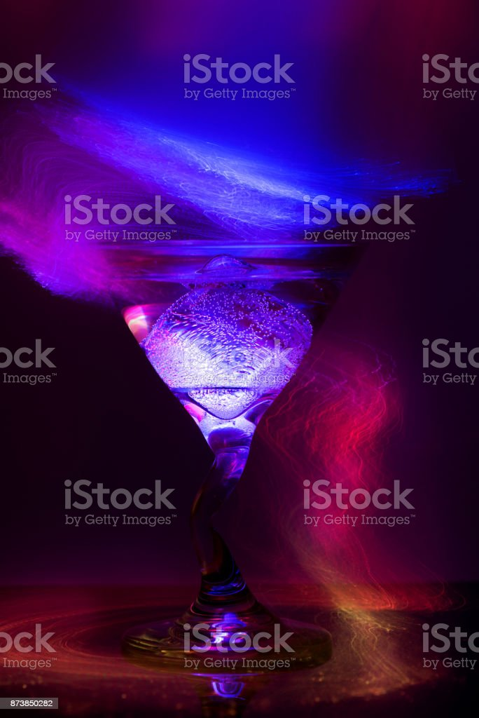 colorful cocktail in glass for club party stock photo