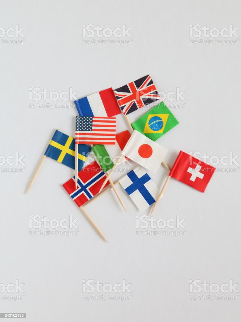 Colorful Cocktail National Flags stock photo